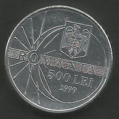 ROMANIA 500 LEI 1999 ECLIPSA [2] XF, livrare in cartonas - Moneda Romania, Aluminiu