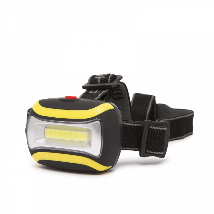 Lampa cu fixare pe cap, pt. ciclism cu COB LED foto mare