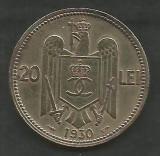 ROMANIA  CAROL II   20  LEI  1930  ,   PARIS  [01]   livrare in cartonas, Cupru-Nichel