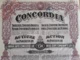 ACTIUNI CONCORDIA SOC.  ANONIMA ROMANA PTR INDUSTRIA PETROLULUI - 250 LEI - 1924