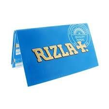 Foite rulat tutun RIZLA BLUE DOUBLE 70mm-100 buc. foto