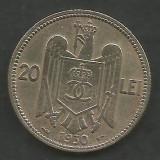 ROMANIA  CAROL II   20  LEI  1930  ,   PARIS  [13]   livrare in cartonas, Cupru-Nichel