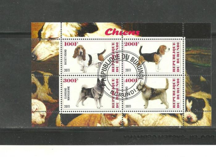 BURUNDI 2011 - CAINI DE COMPANIE, bloc stampilat T5