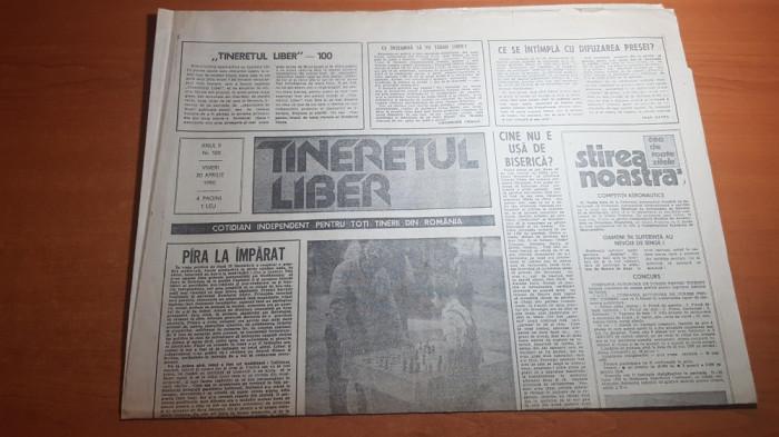 """ziarul tineretul liber 20 aprilie 1990-articolul  """"revolutia asa cum a fost ea"""""""