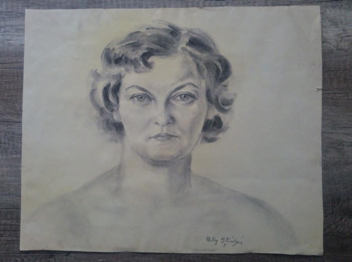 Portret femeie// creion pe hartie, Nelly Stiubei foto mare