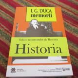 I.G. DUCA MEMORII, 2 VOL.