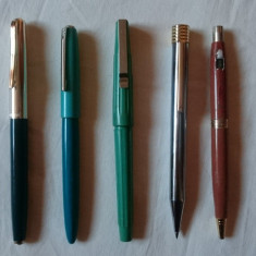 Lot stilou pix creion mecanic vechi de colectie comunism - Youth, Wing, etc