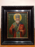 Icoana veche Sf. Nicolae, Romaneasca, 1915 - Piesa de colectie
