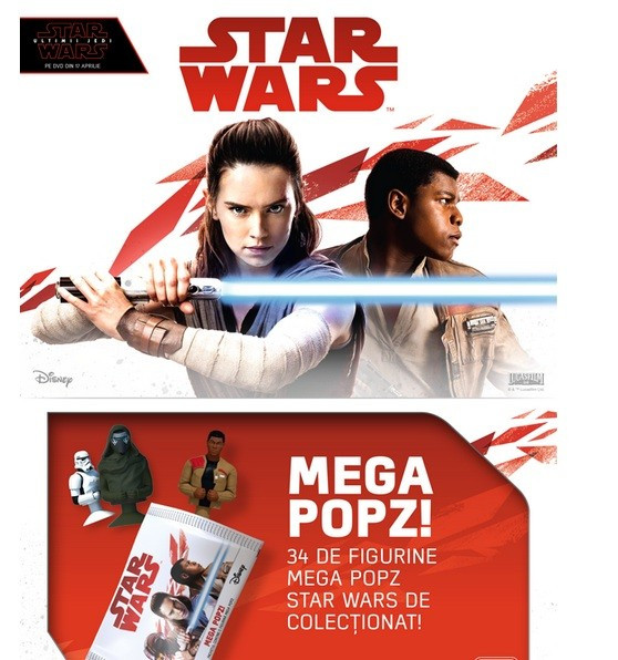 Colectie completa STAR WARS Mega Image Popz, cu album+ zar + 2 figurine + LEGO foto mare