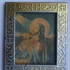 Icoana veche de colectie litografie - Rugaciunea lui Iisus in Gradina Ghetsimani