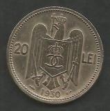 ROMANIA  CAROL II   20  LEI  1930  ,   PARIS  [1]   livrare in cartonas, Cupru-Nichel