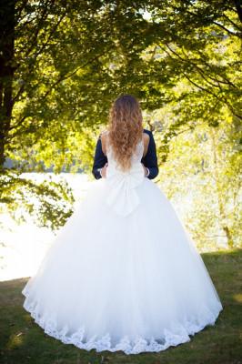 Rochie de mireasa printesa foto