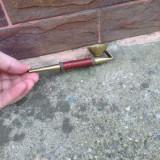 Pipa din bronz + piele - Functionala !!!