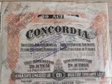 ACTIUNI CONCORDIA SOC. ANONIMA ROMANA PENTRU INDUSTRIA PETROLULUI -20 LEI - 1923