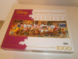 Joc puzzle Disney Panorama, cei 7 pitici, 1000 piese, made in Italy!, Clementoni