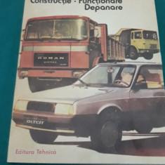 AUTOMOBILUL *CONSTRUCȚIE *FUNCȚIONARE *DEPANARE/ D. CRISTESCU/ 1986