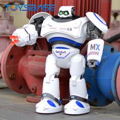 MEGA ROBOT INTELIGENT SMART AIRBOTS,40 CM,TELECOMANDA,VORBESTE,MERGE,LUMINI.NOU!
