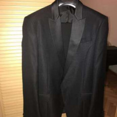 Costum bărbătesc, negru de gală + cămașă cu butoni - Costum barbati