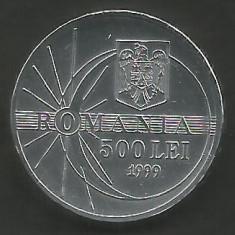 ROMANIA 500 LEI 1999 ECLIPSA [1] XF, livrare in cartonas - Moneda Romania, Aluminiu