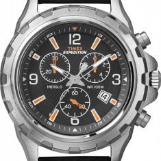 Timex T49985 Expedition ceas barbati 100% original. Garantie. Livrare rapida. - Ceas barbatesc Timex, Casual, Quartz, Piele, Cronograf, Analog