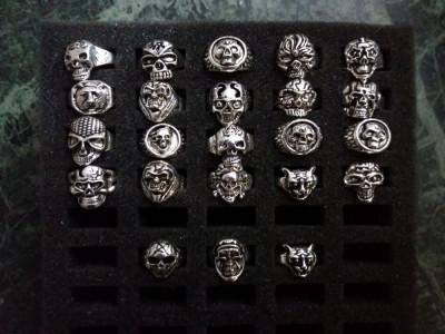 Inele gotic/punk din argint tibetan foto