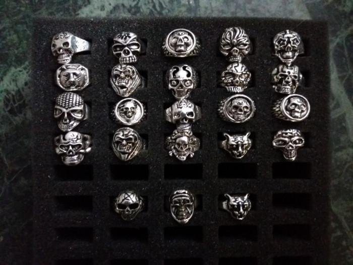 Inele gotic/punk din argint tibetan