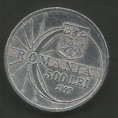 ROMANIA 500 LEI 1999 ECLIPSA [3] livrare in cartonas - Moneda Romania, Aluminiu