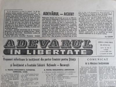"ZIAR ""ADEVARUL IN LIBERTATE"" CLUJ - ANUL II NR. 11 - EXPRESIE A OPINIEI PUBLICE foto"