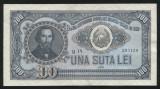 Y434 ROMANIA 100 LEI 1952 serie albastra UNC  NECIRCULATA