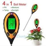 PH metru 4 in 1 pentru masurarea solului, afisaj LCD
