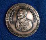 """Medalie Regele Ferdinand - Asociatia nationala """" Cultul eroilor """""""