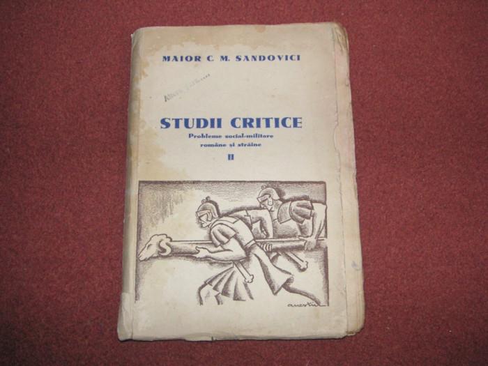 MAIOR C.M.SANDOVICI - STUDII CRITICE - VOL 2