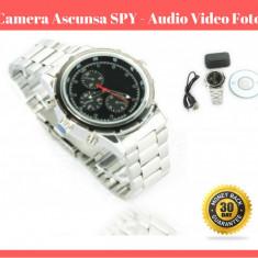 Ceas De Mana Camera SPION Ascunsa  SPY 4 Gb  - Inregistrare Foto Video Audio
