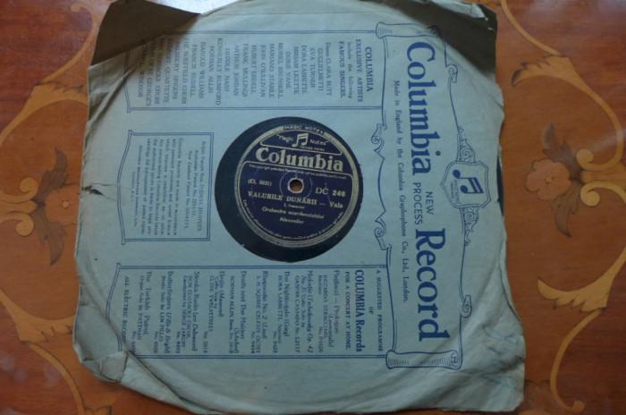 Disc vinil  ebonita - – Valurile Dunării / Văduva Veselă     Columbia – DC 246