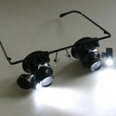Ochelari lupa ochelari 20x lupa 20x  led-uri lupa reparatii ceasornicar bijutier