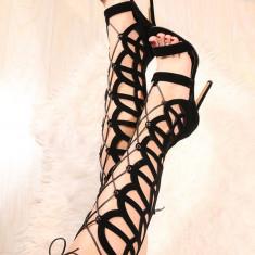 Sandale gladiator cu toc LFR2 - Sandale dama