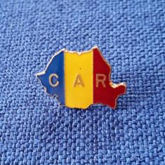 Insigna C.A.R. - harta - steagul Romaniei