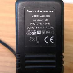 Alimentator Sino American 6V 0,1A A20610G (40297)