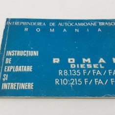 INSTRUCȚIUNI DE EXPLOATARE ȘI ÎNTREȚINERE ROMAN DIESEL R8.135F/FA *R 10.215 F/FA