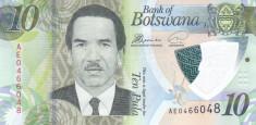 Bancnota Botswana 10 Pula (2018) - P35 UNC ( polimer ) foto