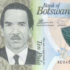 Bancnota Botswana 10 Pula 2018 - PNew UNC ( polimer )