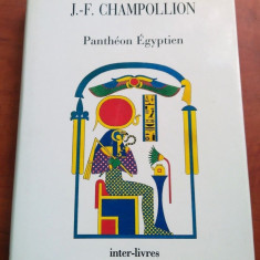 Pantheon Egyptien - J.-F. Champollion - Carte mitologie