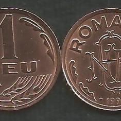ROMANIA 1 LEU 1992 [1] XF++ a UNC, livrare in cartonas - Moneda Romania, Tombac
