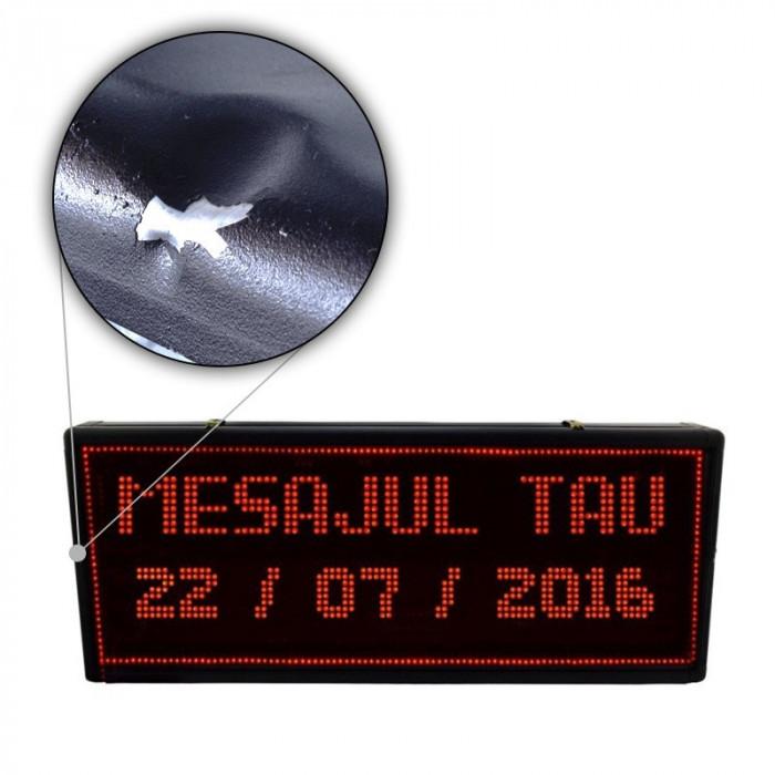 Reclama luminoasa pentru exterior, afisaj LED, 100x40 cm, Resigilata