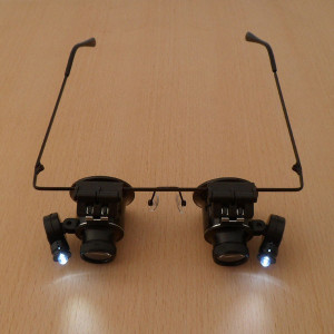 lupa Ochelari lupa dubla Lumina LED lupa 20x  ceasornicar bijutier reparatii