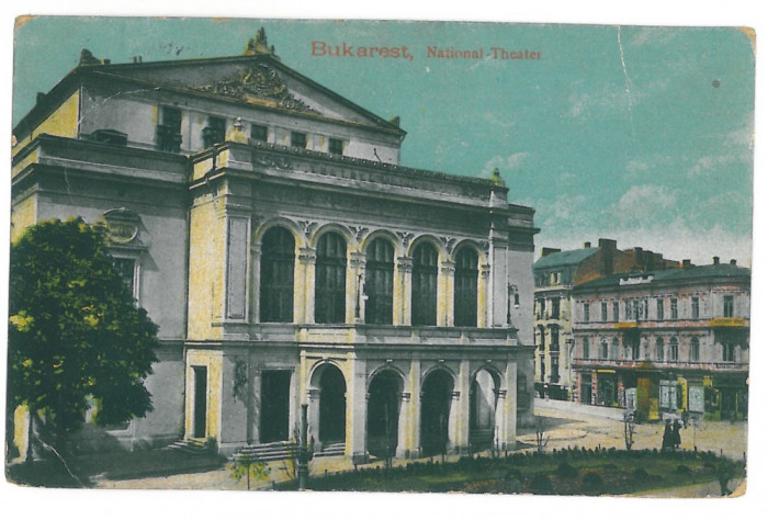 4278 - BUCURESTI, Romania, Theatre - old postcard, CENSOR - used - 1917 foto mare