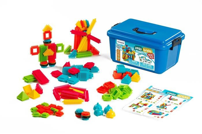 Joc De Constructii Pegy Bricks 100 Miniland foto mare