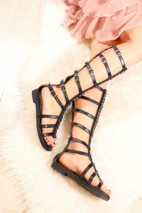 Sandale romane lungi PIERCE