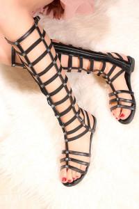 Sandale romane inalte Stuart