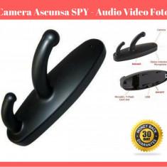 Cuier Fals Camera SPION Ascunsa  SPY  - Inregistrare Foto Video Audio Spionaj